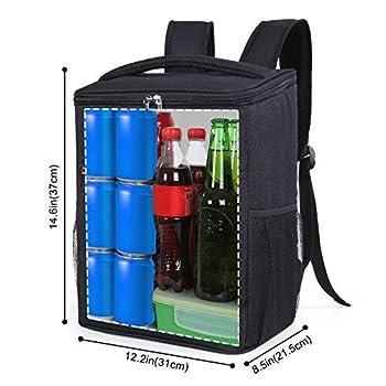 Lifewit 24L (30-Canette) Sac de Pique-Nique Sac à Dos Isotherme à Glacière Cooler Backpack Bag, Sac Isotherme Portable pour Déjeuner Plage Pique-Nique Camping, Noir
