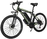 MQJ Ebikes Electric Bike Electric Mountain Bike 350W Ebike 26'Bicicleta Eléctrica, Adultos Ebike con Batería Extraíble 10 / 15Ah, Engranajes Profesionales de 27 Velocidades,10Ah