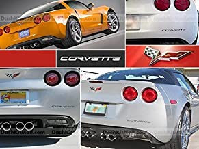 SF Sales USA - Matte Black Plastic Letters fit Corvette C6 2005-2012 Rear Bumper Inserts Not Decals