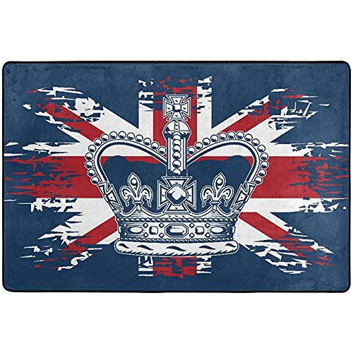 Alfombrillas para felpudos de bienvenida para interior y exterior con diseño de la bandera de Reino Unido