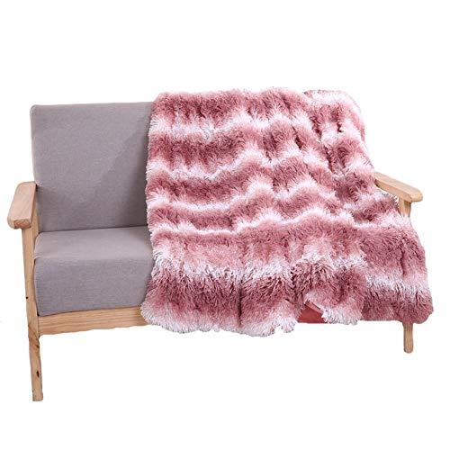 BZRXQR Versátil Sofá Lanza Caliente Manta Gruesa Sillón Cubierta Suave sofá (Color : Bean Powder, Size : 160x200cm)