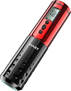 Mast Tattoo Pen Machine Draadloze Batterij LCD Display Rotary Tattoo Machine Red Color