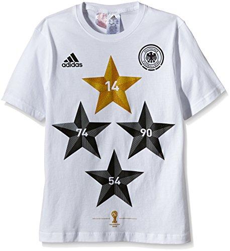 adidas Kinder T-Shirt DFB Deutschland Winner 4-Sterne, Mehrfarbig, 164