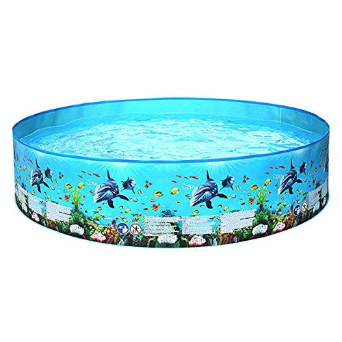MAYI Natación para niños, niños por encima de la tierra Kiddie para jardín al aire libre, jardín trasero, centro de juego de agua para niños pequeños, 48 x 10 pulgadas azul 152 x 25 cm