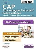 CAP Accompagnant éducatif petite enfance - Epreuves professionnelles - 2020/2021 - 90 Fiches de révisions - EP1, EP2 et EP3
