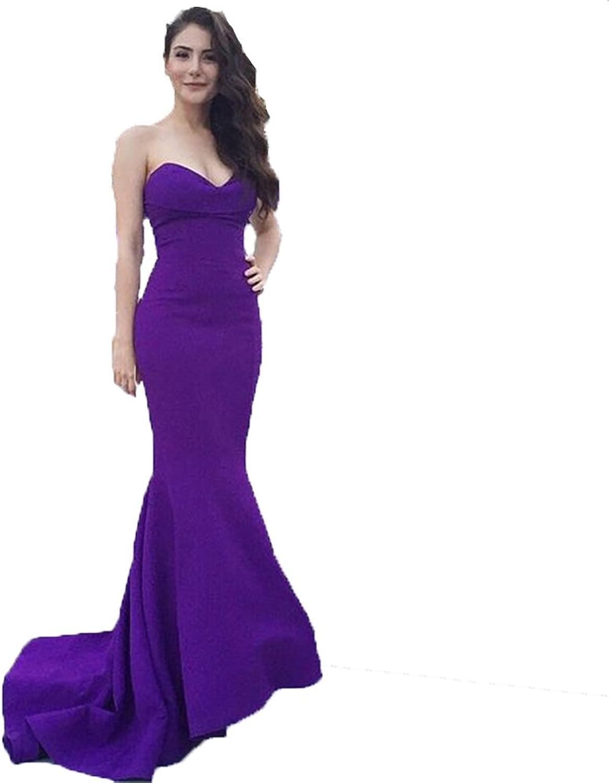 Dislax Sweetheart Mermaid Women's Long Prom Dress Party Gowns