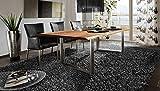 SAM Baumkantentisch 120x80 cm Quarto, Esszimmertisch aus Akazie, Holz-Tisch mit Silber lackierten Beinen - 3