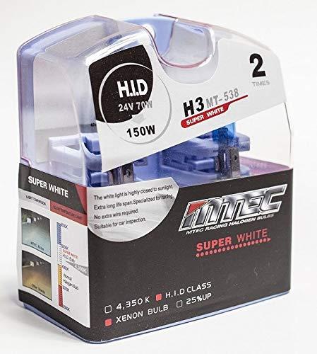 MTEC H3 24 V 70 W Superweiße Xenon-Effekt HID Klasse Upgrade Leuchtmittel