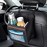 DKIIGAME Car Organizer Back Seat,Hanging Premium Car Seat Organizer,Waterproof Odorless Fabric Mini Trash Bag (Black 9X7.8 in)