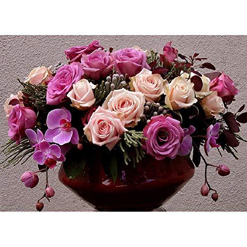 Ryokozashi Ramo de flores con diamantes de imitación 5D para manualidades