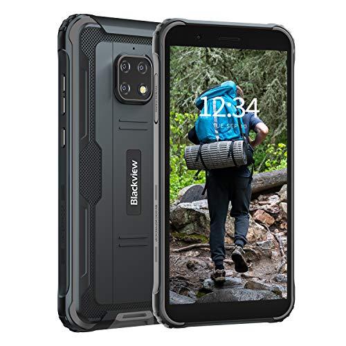 Blackview BV4900 Pro スマートフォン防水アウトドア 4G SIMフリー スマホ本体 防水 防塵 耐衝撃 4GB RAM 64GB ROM 5MP+13MP防水カメラ Android 10 IP68 5580mAh大容量バッテリー 5.7インチ 顔認証 携帯電話 デュアルSIM(Nano) 防災用品 (ブラック)