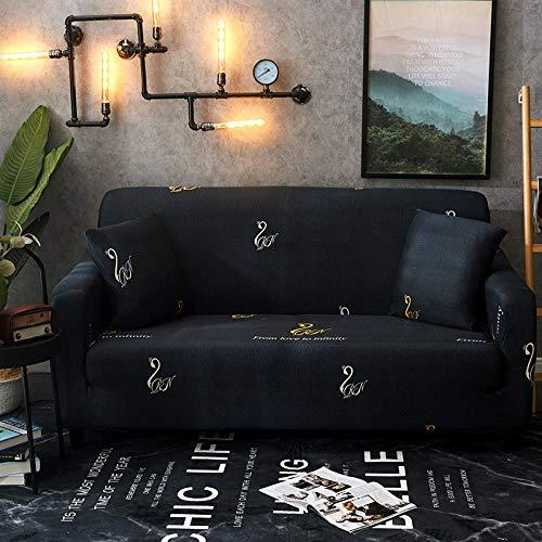 Fsogasilttlv Todo Incluido Funda de sofá 2 plazas, Enrejado Impreso Elasticidad Fundas para sofás Toalla Protección para Muebles de Sala de Estar, Sillón Sofás Fundas para Fundas 145-185cm