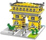 Bloques de construcción de niños, conjunto de bloques de construcción de arco de triomphe, cinco bloques de piedras preciosas cósmicas, 1398pcs 3D DIY Nano Nano Partículas pequeñas Ensamblaje de jugue