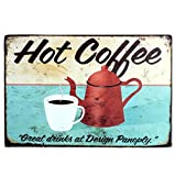 Kentop Retro - Cartel de chapa para puerta de café, bar, café, restaurante, publicidad, placa de metal para decoración de pared