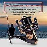 DAUERHAFT Metallic Angelrolle 14 + 1BB Angelzubehör Anti-Staub, für Seefischerei, für Outdoor-Aktivitäten(8000)