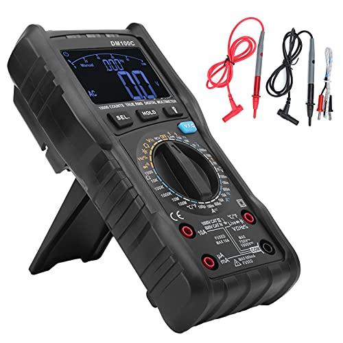 Multímetro DM100C Multímetro digital de alta precisión Probador de voltaje sin contacto para mantenimiento eléctrico 10 A / 999,9 V