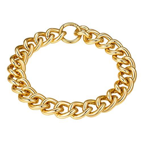 ChainsHouse Sexy Choker Necklace Collar de Oro baño para Mujeres Chicas Aluminio Collar de Clavicula Cuello Regalo Navidad Año Nuevo día de los Enamorados
