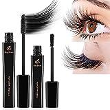 MayBeau Wimperntusche 4D Mascara Kit mit Silk Fiber Mascara Cream Wasserdicht Langanhaltende...