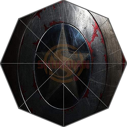 NJSDDB paraplu Captain America Aangepaste Leuke Nieuwe Beste Ontwerp Draagbare Mode Stijlvolle Handige Opvouwbare Paraplu Goede Gift Idea!, Chocolade