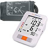 "LotFancy Blood Pressure Monitor, Automatic BP Cuff Machine Kit, Digital Upper Arm Gauge Accurate Tester, BP Meter for Irregular Heart Detection – 2 User, 180 Sets Memory, M Cuff (9""-13"")"