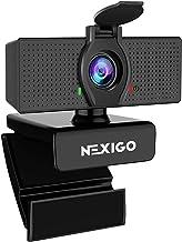 1080P Web Camera, HD Webcam with Microphone, Software Control & Privacy Cover, NexiGo N60 USB Computer Camera, 110-degree ...