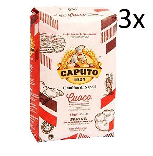 3x Farina Molino Caputo Cuoco chief Pizza Napoli Pizzamehl Pizza Mehl 1kg