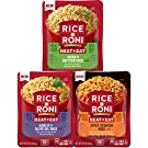 Rice A Roni Heat & Eat Rice, 3 Flavor Variety Pack, (6 Pack)