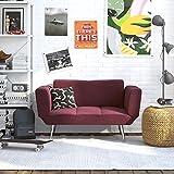 Novogratz FBA_2042959 Love Seats, Berry