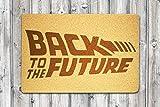 StarlingShop Back to the Future - Felpudo de regreso al futuro, ideal para decoración al aire libre, regalo de cumpleaños