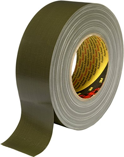 3M Premium Gewebeklebeband 389, olive, 50 mm x 50 m (1-er Pack)
