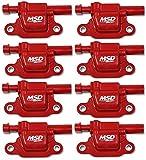 MSD Coils, 14 & up GM V8 Red Square Set of 8