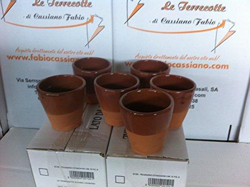 Bicchieri in Terracotta cm 10 6 Pezzi