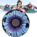 Trineo Inflable Esquí, Deslizadores Hinchables, Tubo para la Nieve Inflable de 120 cm de Ancho con Asas de FáCil Agarre, Hecho de Resistente Vinilo