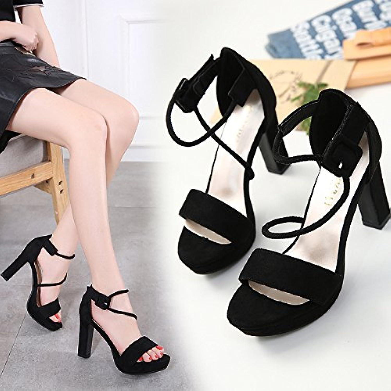 Snygga nya högklackade skor, skor, skor, djärva vattentäta plattformsandaler.  online-försäljning