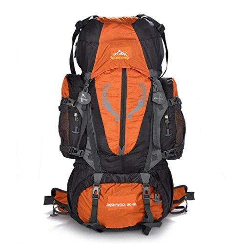 80L randonnée en plein air Escalade Sac à dos étanche Hommes Sport de plein air Sacs à dos Sacs à dos Mountaineer voyage , orange
