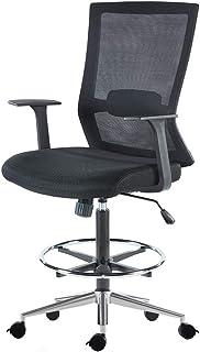 Sunon 网格中背,符合人体工程学的行政办公椅,2 对 1 Synchro 经理椅,带腰部支撑 Black & Brake Wheels