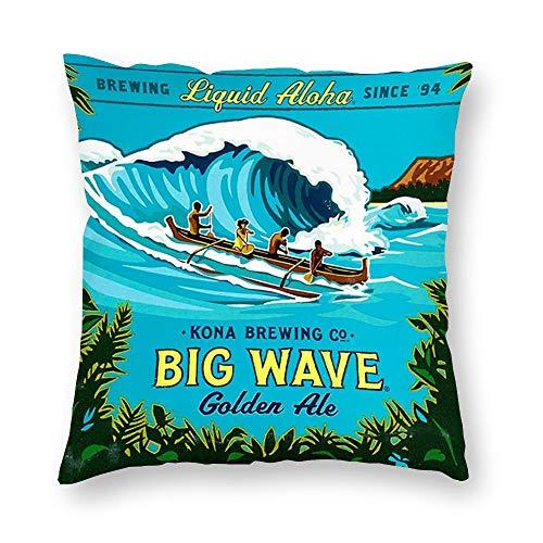 VinMea Dekorative Kissenbezüge Kona Big Wave Wurfkissenbezug Home Office Decor, quadratisch, 55,9 x 55,9 cm