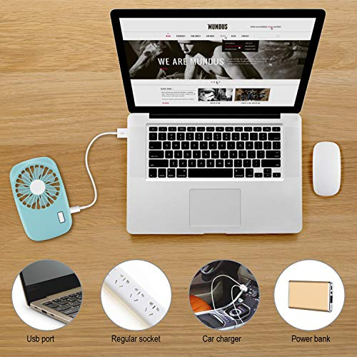 Aluan Handheld Fan Mini Fan Powerful Small Personal Portable Fan Speed Adjustable USB Rechargeable Eyelash Fan for Kids Girls Woman Man Home Office Outdoor Travel
