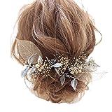 seri 髪飾り ヘアアクセサリー プリザーブドフラワー ウエディング 成人式 卒業式 リーフ