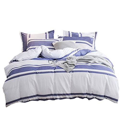 Umi. Essentials 100% cotton Yarn Dyed Duvet Cover Set-Double