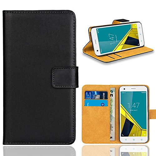 Vodafone Smart Ultra 6 Handy Tasche, FoneExpert® Wallet Hülle Flip Cover Hüllen Etui Ledertasche Lederhülle Premium Schutzhülle für Vodafone Smart Ultra 6 (Schwarz)