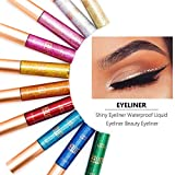10 Pcs/Set Glitter Eyeliner Pen Makeup Liquid Eyeshadow Highlighter Easy to Wear Long Lasting Shimmer Liquid Eyeliner Beauty Make Up Cosmetics Kits