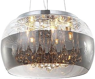 Cristal LED plafonnier suspension lampe lustre pendentif éclairage lumière abat-jour verre salle à manger désign moderne Ø...