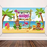Blulu Hawaiano Aloha Decorazioni per Feste, Poster in Tessuto Extra Large con Segni Scintillanti per Luau Festa Fornitura, Bandiera Aloha Party Insegna del Fondo del Contesto della Cabina della Foto