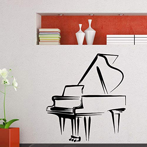 Piano tatuajes de pared de música piano de cola Etiqueta de