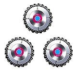 Yokawe 3 discos de amoladora angular para motosierra de 22 dientes, sierra de cadena de acero de 10,2 cm, 3 unidades