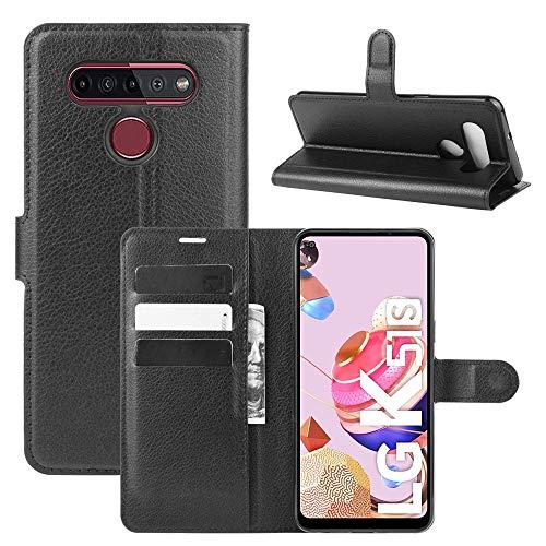 betterfon   LG K41S / K51S Hülle Handy Tasche Handyhülle Etui Wallet Hülle Schutzhülle mit Magnetverschluss/Kartenfächer für LG K41S / K51S Schwarz