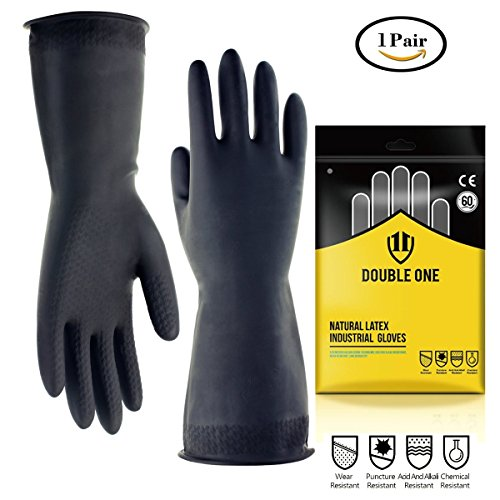 Industrial guantes doble guantes de látex natural de 12,2 cm de largo