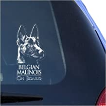 Belgian Malinois Clear Vinyl Decal Sticker for Window, Mechelaar Shepherd Dog Sign Art Print