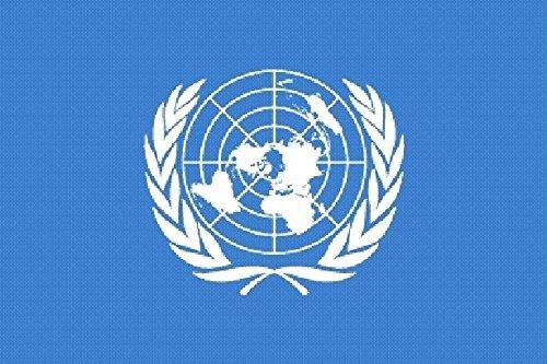 U24 Aufkleber UNO Flagge Fahne 8 x 5 cm Autoaufkleber Sticker